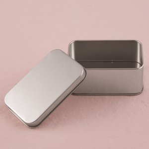 XOXO Rectangular Tin Box with Lid (Set of 8) image