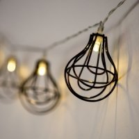 LED String of Lights with Light Bulb Wire Cage