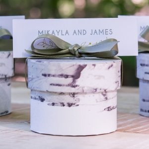 Birch Circular Favor Box (Set of 6) image
