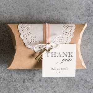 DIY Kraft Pillow Box Favor Wrapping Kit (Set of 3) image