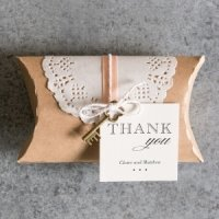 DIY Kraft Pillow Box Favor Wrapping Kit (Set of 3)