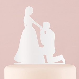 Cinderella Moment Silhouette Acrylic Cake Topper image