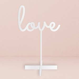 Love Acrylic Sign - White or Black image