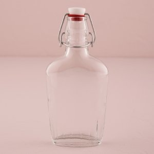 Vintage Inspired Clear Glass Flask image