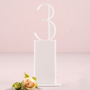 Pedestal Style White Acrylic Table Number image