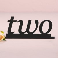Word Style Black Acrylic Table Number