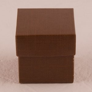 Chocolate Brown Square Favor Box with Lid (Set of 10) image