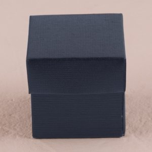 Navy Blue Favor Box with Lid (Set of 10) image