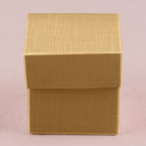 Lustrous Gold Favor Box with Lid (Set of 10) image
