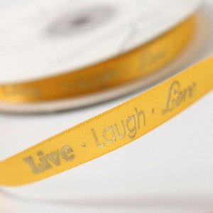 Live - Laugh - Love Ribbon for Wedding Favors image