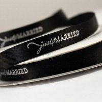 Just Married Wedding Favor Ribbon