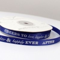 Cheers to Love - Laughter and Happily Ever After Ribbon