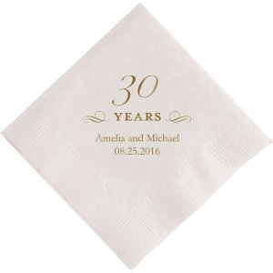 30 Years Printed Napkins image