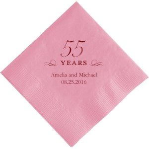 55 Years Printed Napkins image