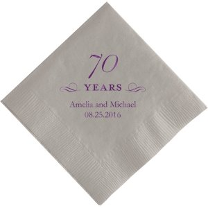 70 Years Printed Napkins image