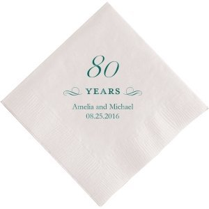80 Years Printed Napkins image