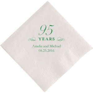 95 Years Printed Napkins image