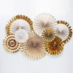 Gold Foil Paper Fan Party Decorations
