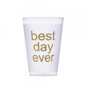 Best Day Ever Frosted Plastic Tumblers (Set of 10) image