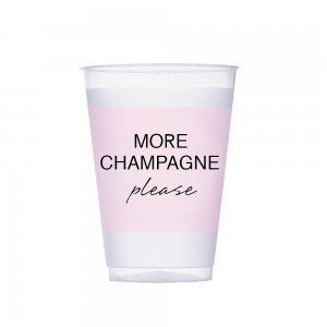 More Champagne Pink Frosted Plastic Tumblers (Set of 10) image