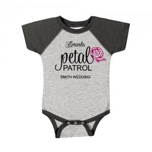 Personalized Petal Patrol Baby Flower Girl One Piece image