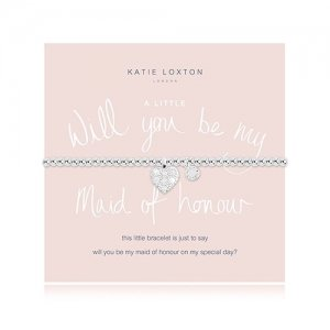 Will You Be My Bridesmaid/Maid of Honour Silver Heart Charm image