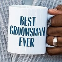 Best Groomsman Ever Personalized Coffee Mug (Color Options)