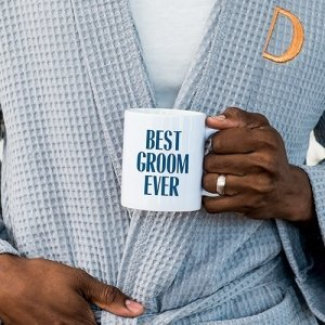 Best Groom Ever Personalized Coffee Mug (Color Options) image