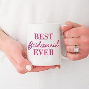 Best Bridesmaid Ever Personalized Coffee Mug (Color Options) image