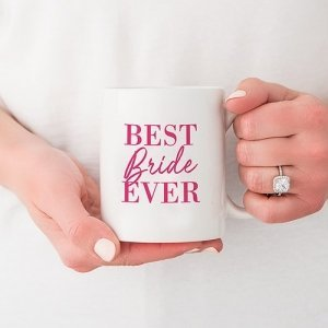 Best Bride Ever Personalized Coffee Mug (Color Options) image