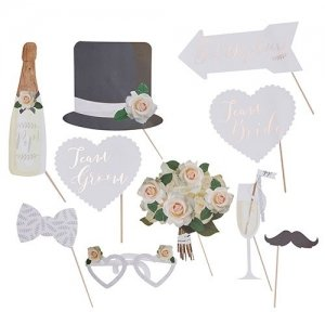 Classic Wedding Photo Booth Props image