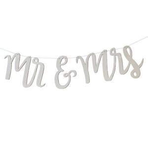 Mr and Mrs Wooden Wedding Banner image