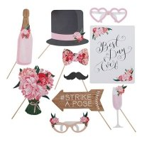 Floral Whimsy Wedding Photo Booth Props