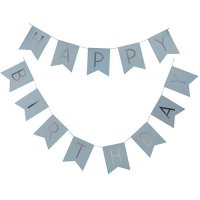 Blue Pastel Happy Birthday Banner