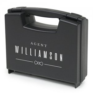 Special Agent Ring Bearer Personalized Ring Briefcase image