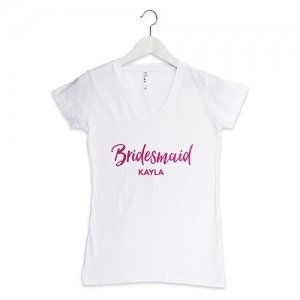 Personalized Bridesmaid T-Shirt (Color Options) image