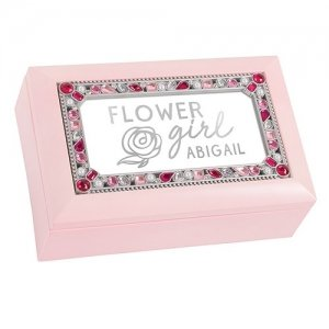 Flower Girl Foiled Print Small Jeweled Music Box image
