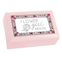 Flower Girl Foiled Print Small Jeweled Music Box