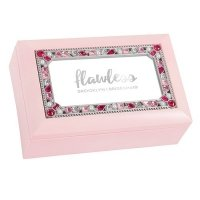 Flawless Foiled Print Small Jeweled Music Box