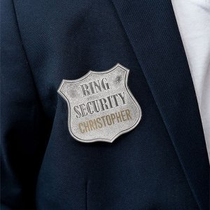 Ring Bearer Personalized Security Badge image