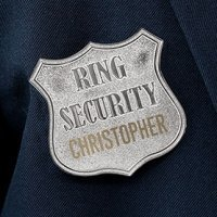 Ring Bearer Personalized Security Badge