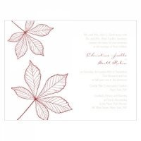 Autumn Leaf Stationery Sample (12 Colors)