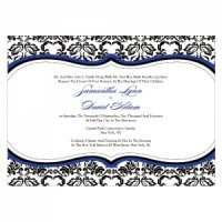 Love Bird Damask Stationery Sample (18 Colors)