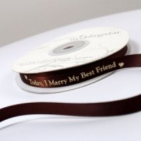 Today I Marry My Best Friend Ribbon (4 Sizes-31 Colors)