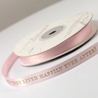 And They Lived Happily Ever After Ribbon (4 sizes-31 Colors)