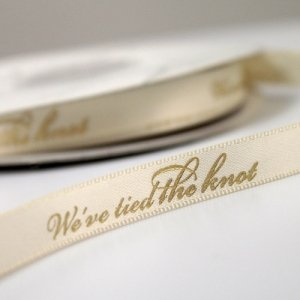 We've Tied The Knot Wedding Ribbon (4 Sizes - 31 Colors) image