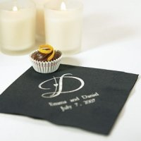 Decorative Initial Monogram Napkins for Weddings