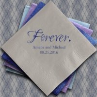 Forever Printed Napkins for Weddings (Set of 100)