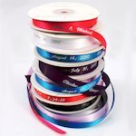 Personalized 3/8 inch Wedding Favor Ribbon