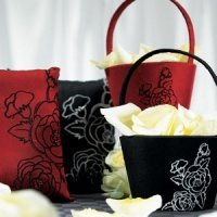 Silhouettes Black or Red Accessories